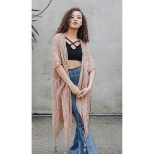 Couture Gypsy Accessories - 🍁 Bohemian Rose Tassel Kimono One Size 🍁
